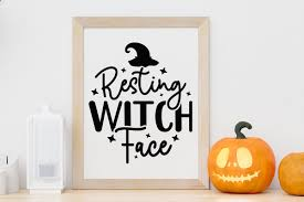Candy corn princess svg | cute halloween svg for girls. Craftlabsvg On Twitter Resting Witch Face Fall Svg Halloweensvg Cut File For Cricut Silhouette And Any Other Vinyl Cutting Machines Grab It Now Https T Co Tu8lmwwaup Svg Dxf Eps Fallsvg Halloweensvg Cuttingfiles Silhouettesvg