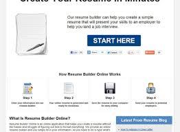 Free Online Resume Templates Printable Resume Quick Resume Builder Free Easy Resume Builder App Free 99