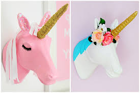 2 ways to decorate a mache unicorn head