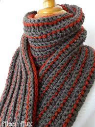 Striped Scarf Knitting Pattern Cool Decoration
