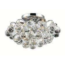 iva chrome four light 12 inch flush mount with royal cut clear crystal