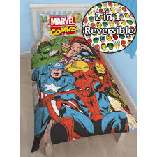 This Marvel Comics Justice Single Panel Duvet Cover Set is fully ... & This Marvel Comics Justice Single Panel Duvet Cover Set is fully  reversible, giving you two Adamdwight.com