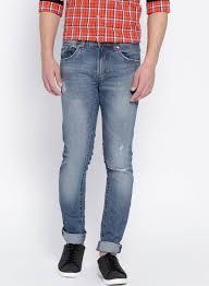 Ovs Men Blue Straight Fit Mid Rise Mild Distress Jeans