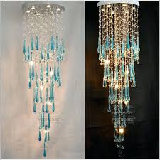 fresh blue crystal chandeliers for large blue chandelier modern crystal chandelier room ceiling light lamp 4 idea blue crystal chandeliers