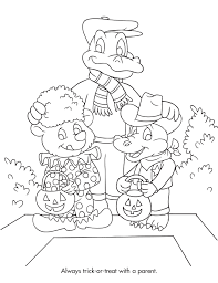 Halloween Safety Coloring Page