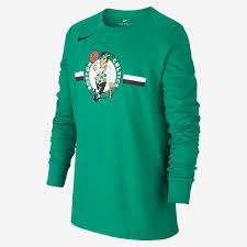 Nike Dri Fit Long Sleeve Size Chart Boston Celtics Nike Dri Fit Logo Older Kids Long Sleeve Nba T Shirt
