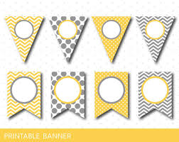 Blank Birthday Banner Yellow Party Banner Yellow Banner Yellow Birthday Banner