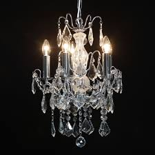 5 branch chrome antique french style chandelier