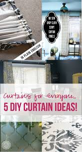 5 diy curtain ideas happily ever after etc
