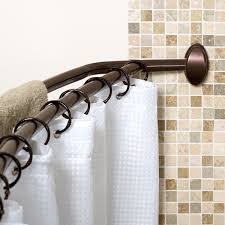 brilliant curved shower curtain rod cover about shower curtain rod covers cratem