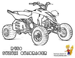 four wheeler coloring pages. Perfect Wheeler ATV Coloring  Free 4 Wheeler Printables Pictures Throughout Four Pages E