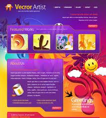 Artist Website Templates New Vector Artist Website Template 28 Creative Design Website