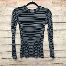 Other Stories Striped Crew Neck Long Sleeve