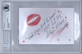 How To Print On An Index Card Details About Blaze Starr Signed Autographed 4x6 Index Card With Lip Print Rare Beckett Bas