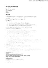 Free Construction Resume Templates Sample Construction Resume Amazing Examples Template Au Mychjp