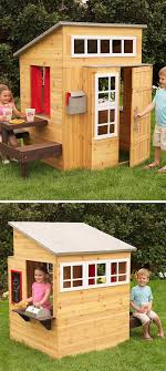 simple wooden playhouse