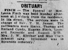 Leona Finch, Obituary - Newspapers.com