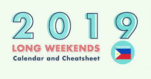 10 Long Weekends in the Philippines in 2019 with Calendar & Cheatsheet