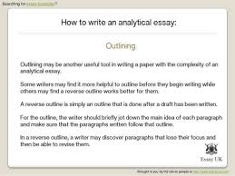 example of analytical essay co example of analytical essay
