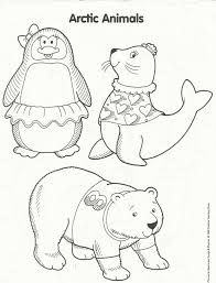 Arctic Animals Coloring Page