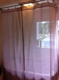 white blue fl fabric shower curtains bathtub hookless fabric shower curtain white steel bar pole added pedestal sink beside bathtub two ceiling support