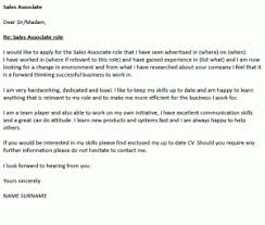 Sales Associate Cover Letter Example Icover Org Uk