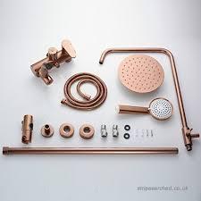 shower head space aluminum shower set rose gold shower head lift shower taps b074fw3b5l