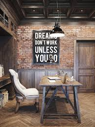 saveemail industrial home office. Rustic Office Design By Denis Krasikov Saveemail Industrial Home F