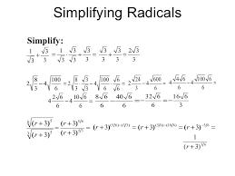 simplify exponents simplifying radical expressions rational exponents radical equations simplify exponents