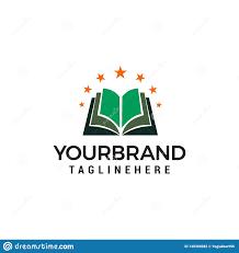Fairy Logo Design Book Star Logo Design Concept Template Stock Vector