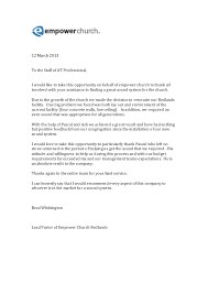 At Professional Thank You Letter