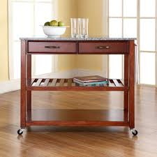 This cart is big enough to add extra storage space and extra counter space,  but small enough to tuck under a standard countertop and take up just 18