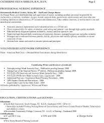 Resume For Nurses Sample Curriculum Vitae Nurse Practitioner Student
