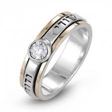 925 sterling silver 9k gold ani ledodi ring with zircon stone