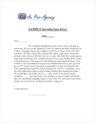 005 Business Letter Sample To Introduce Your Of Introduction
