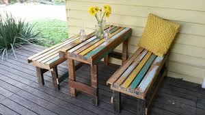 Beautiful Pallet Outdoor Table Pallet Outdoor Set Patio Furniture