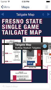 Mobile Apps For Universities Fresno State Tailgating Map