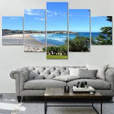 details about bondi beach canvas print painting framed home wall decor art sydney poster