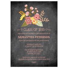 Graduation Party Announcement Graduation Announcement Chalkboard Floral Party Invitation