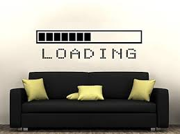 video gaming room furniture. loading bar wall decal vinyl sticker decals gaming video game boy room decor bedroom men gift dorm gamer gifts kids zx128 furniture