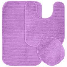 garland rug glamor purple 21 in x 34 in washable bathroom 3 piece