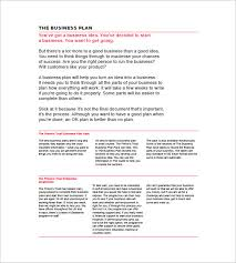 business plan template sample simple business plan template 20 free sample example format