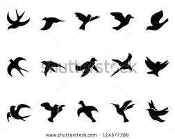 blue bird flying silhouette. Perfect Silhouette Simple Birdu0027s Flying Silhouettes To Blue Bird Flying Silhouette B