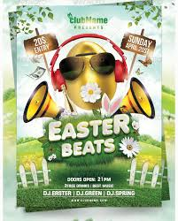 Easter Beats Flyer Template Party Flyer Templates For