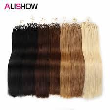 Alishow <b>Straight</b> Loop Micro Ring Hair 1g/s <b>100g</b>/<b>pack 100</b>% Human ...