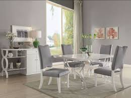 acrylic dining room chairs. Perfect Dining Martinus High Gloss White And Clear Acrylic Dining Room Set To Chairs R