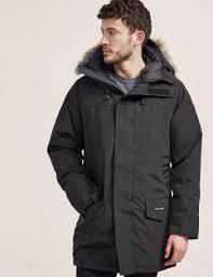 Mens Canada Goose Langford Padded Parka Jacket Black, Black