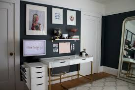 Small Space Solution Combining Home Office Living Room