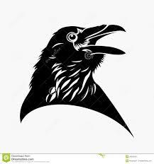 черный Tattoo ворона иллюстрация вектора иллюстрации насчитывающей