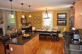 ... Kitchen Remodel Furniture Interior Decoration Living Room Awesome  Modern With Black Granite Tables And Stainless Appliances Open Kitchen  Dining Room ...